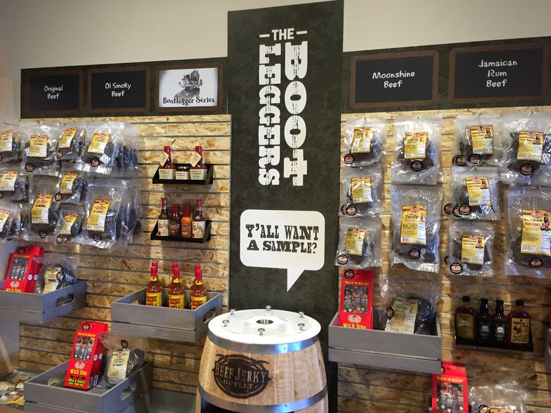 Beef Jerky Outlet merchandise display