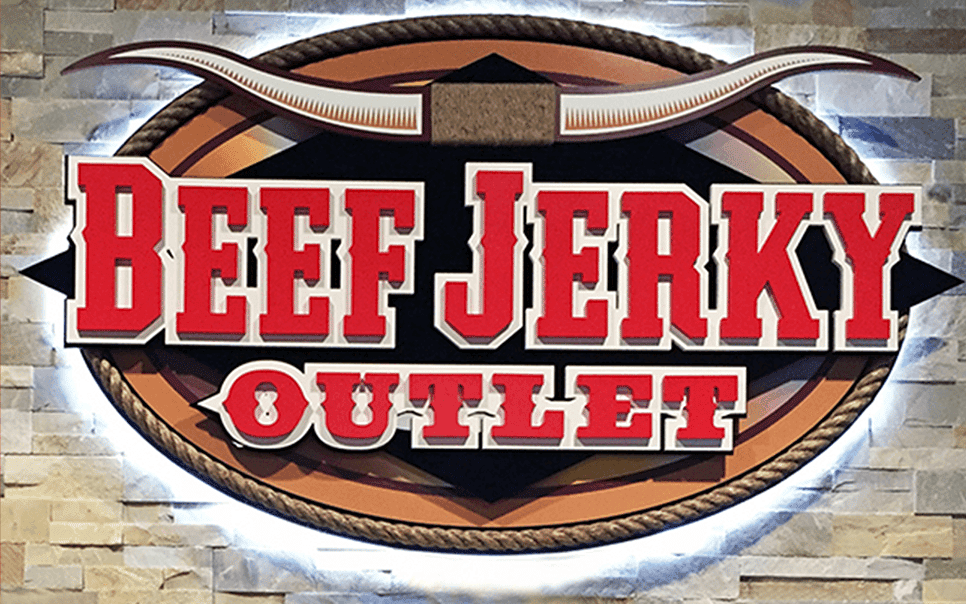 beef jerky outlet sign