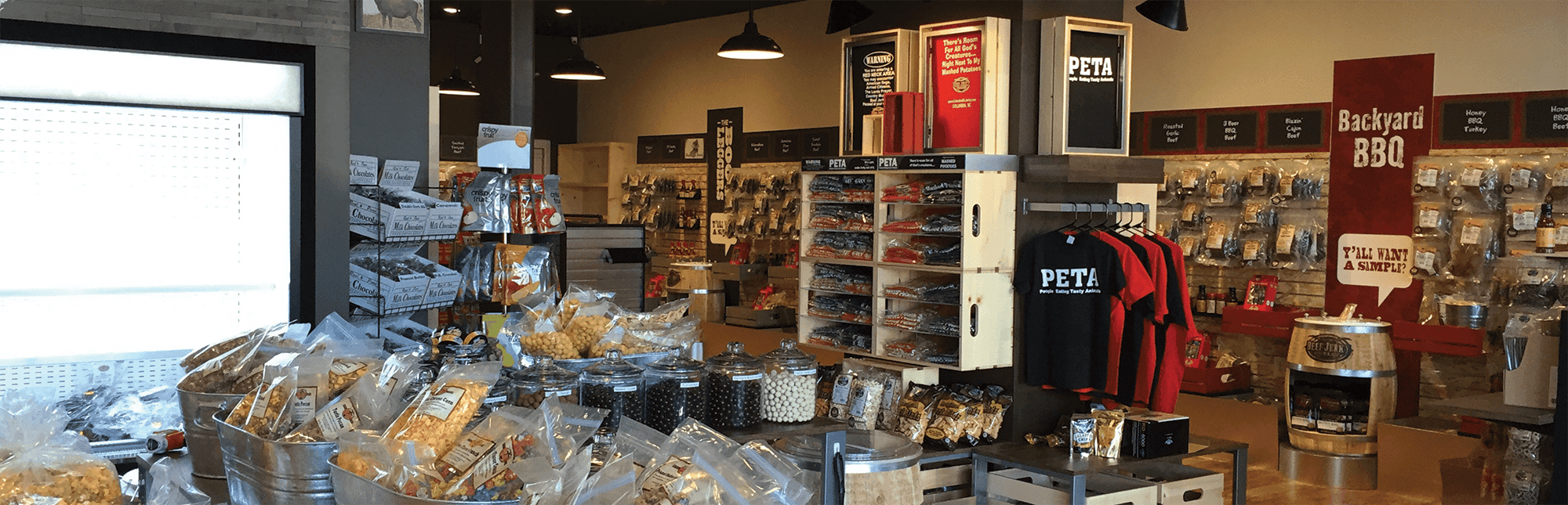 beef jerky outlet in store with goods