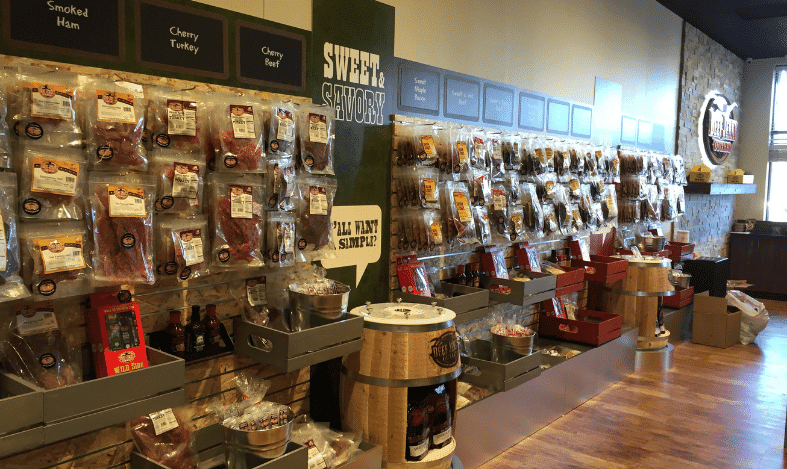 peg walls in the store filled with goods