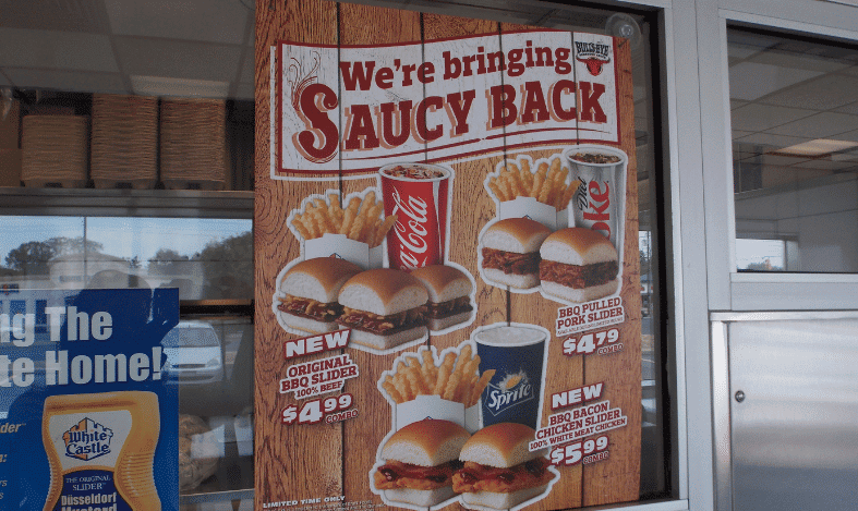 window cling for barbeque white castles