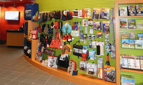 product under counter peg board display