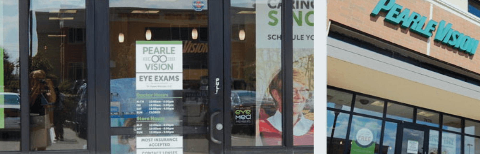 sign on front door of pearle vision centers