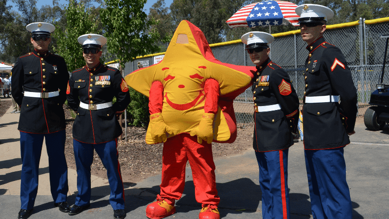 hardees star and marines in uniform