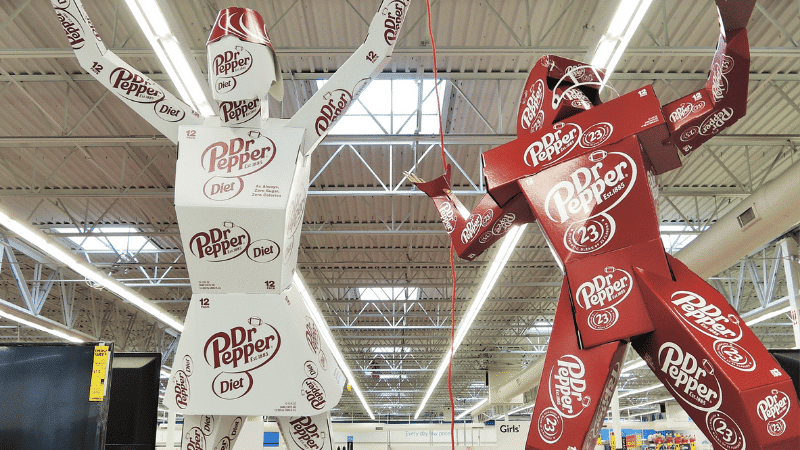 dr pepper sport forms made out of boxes