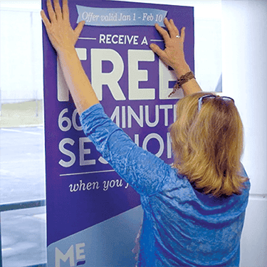 Massage Envy Hanging Signage Poster Point of purchase printing
