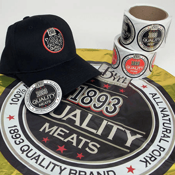 Retail Promotional Products Sticker Hats Branding Retail Design Talkers
